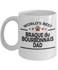 Braque du Bourbonnais Dog Lover Gift World's Best Dad Birthday Father's Day White Ceramic Coffee Mug