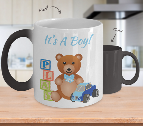 It's A Boy! Baby Gender Reveal Color Changing Ceramic Mug