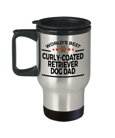 Curly-Coated Retriever Dog Dad Travel Coffee Mug