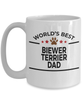 Biewer Terrier Dog Lover Gift World's Best Dad Birthday Father's Day White Ceramic Coffee Mug