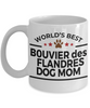 Bouvier des Flandres Dog Lover Owner Gift World's Best Mom White Ceramic Coffee Mug
