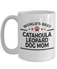 Catahoula Leopard Dog Lover Gift World's Best Mom Birthday Mother's Day White Ceramic Coffee Mug