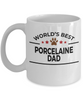 Porcelaine Dog Lover Gift World's Best Dad Birthday Father's Day White Ceramic Coffee Mug
