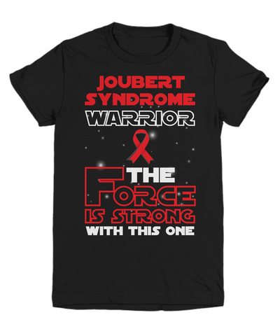 Joubert Syndrome Warrior Black Youth Tee Shirt