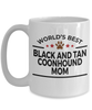 Black and Tan Coonhound Dog Lover Gift World's Best Mom Birthday Mother's Day White Ceramic Coffee Mug