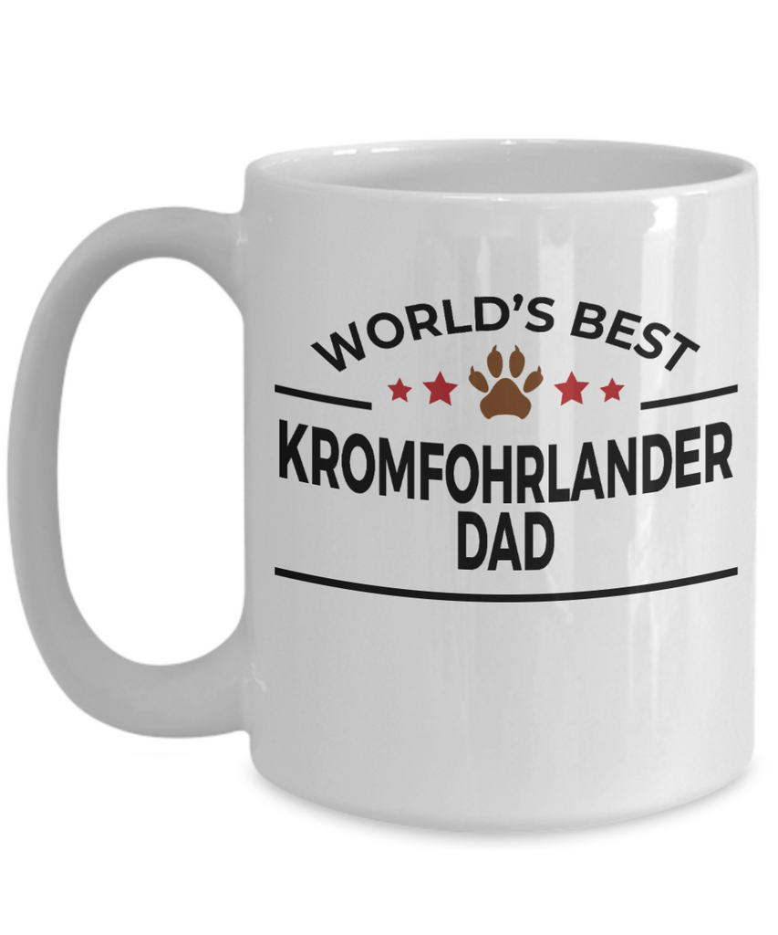 Kromfohrlander Dog Lover Gift World's Best Dad Birthday Father's Day White Ceramic Coffee Mug