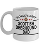 Scottish Deerhound Dog Dad Coffee Mug