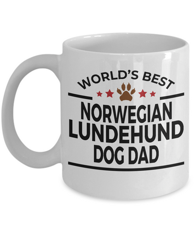 Norwegian Lundehund Dog Dad Coffee Mug
