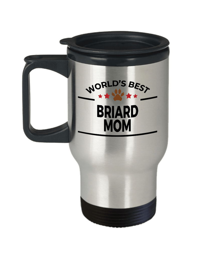 Briard Dog Lover Gift World's Best Mom Birthday Mother's Day Stainless Steel Insulated Travel Coffee Mug
