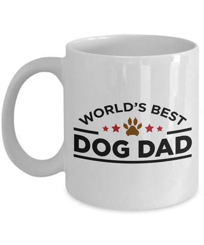 World's Best Dog Dad White Ceramic Mug