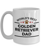 World's Best Golden Retriever Dad White Ceramic Mug