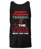 Joubert Syndrome Warrior Force is Strong Black Unisex Tank Top