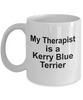 Kerry Blue Terrier Dog Owner Lover Funny Gift Therapist White Ceramic Coffee Mug