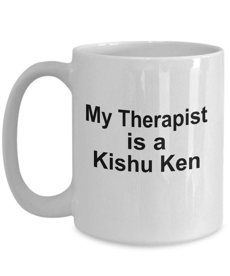 Kishu Ken Dog Owner Lover Funny Gift Therapist White Ceramic Coffee Mug