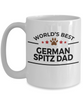 German Spitz Dog Lover Gift World's Best Dad Birthday Father's Day White Ceramic Coffee Mug
