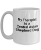 Central Asian Shepherd Dog Owner Lover Funny Gift Therapist White Ceramic Coffee Mug