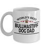 Bullmastiff Dog Lover Gift World's Best Dad Birthday Father's Day Ceramic Coffee Mug