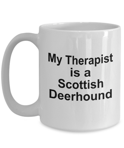Scottish Deerhound Dog Owner Lover Funny Gift Therapist White Ceramic Coffee Mug