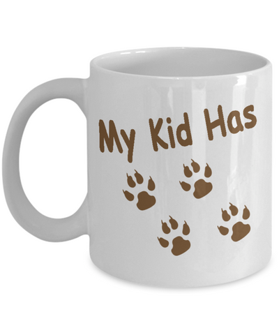 My Kid Has Paws, Bulldog Mom White Mug