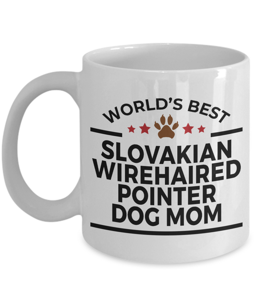Slovakian Wirehaired Pointer Dog Lover Gift World's Best Mom Birthday Mother's Day White Ceramic Coffee Mug
