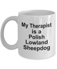 Polish Lowland Sheepdog Dog Owner Lover Funny Gift Therapist White Ceramic Coffee Mug