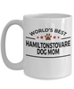 Hamiltonstovare Dog Lover Gift World's Best Mom Birthday Mother's Day White Ceramic Coffee Mug
