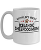 Icelandic Sheepdog Lover Gift World's Best Mom Birthday Mother's Day White Ceramic Coffee Mug