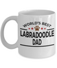 Labradoodle Dog Lover Gift World's Best Dad Birthday Father's Day White Ceramic Coffee Mug