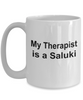Saluki Dog Owner Lover Funny Gift Therapist White Ceramic Coffee Mug