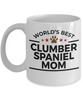 Clumber Spaniel Dog Lover Gift World's Best Mom Birthday Mother's Day White Ceramic Coffee Mug