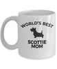 Scottie Mom Mug School Mascot Scottish Terrier Dog Lover Gift White Ceramic Coffee Cup
