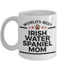 Irish Water Spaniel Dog Lover Gift World's Best Mom Birthday Mother's Day White Ceramic Coffee Mug