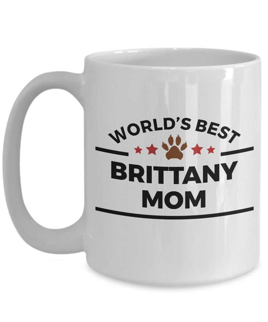 Brittany Dog Lover Gift World's Best Mom Birthday Mother's Day Ceramic Coffee Mug