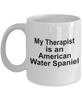 American Water Spaniel Dog Owner Lover Funny Gift Therapist White Ceramic Coffee Mug