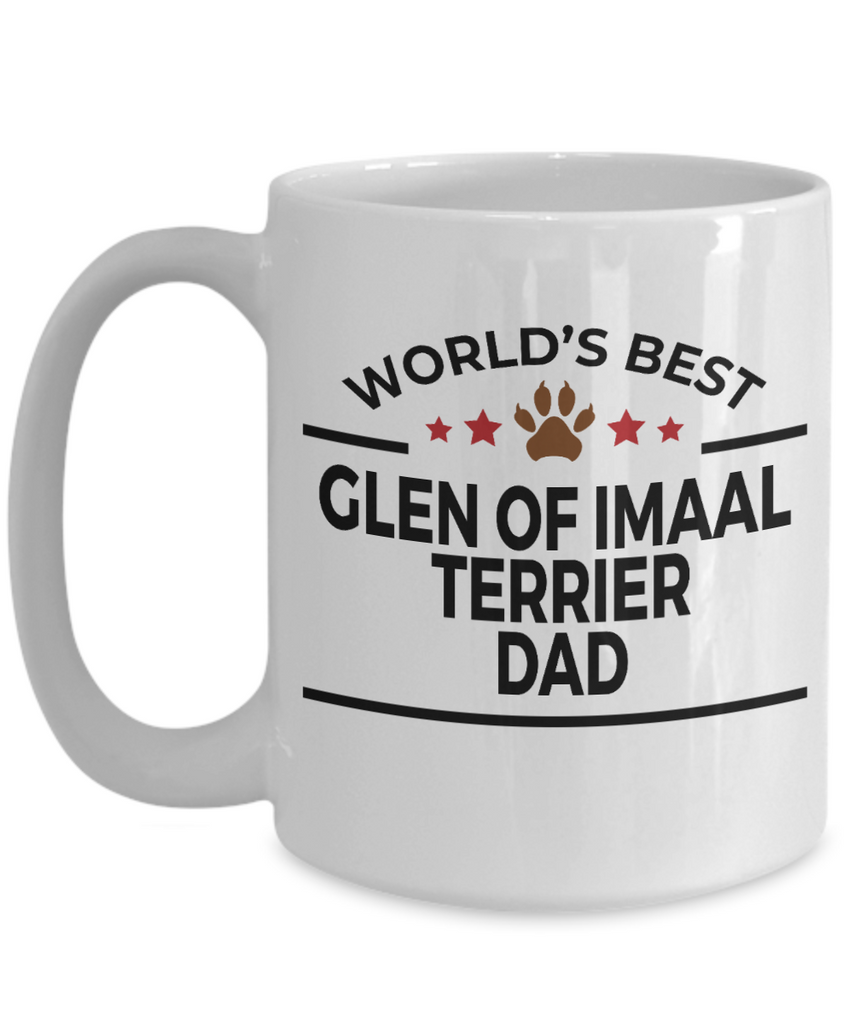 Glen of Imaal Terrier Dog Lover Gift World's Best Dad Birthday Father's Day White Ceramic Coffee Mug