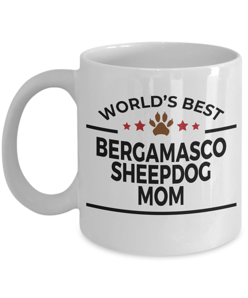 Bergamasco Sheepdog Owner Dog Lover Gift World's Best Mom Birthday Mother's Day White Ceramic Coffee Mug