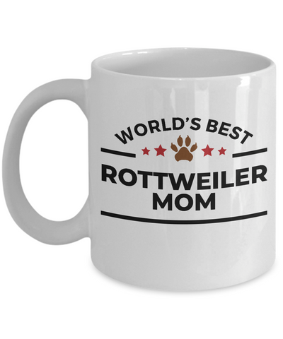 World's Best Rottweiler Mom Ceramic Coffee Mug