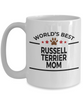 Russell Terrier Dog Lover Gift World's Best Mom Birthday Mother's Day White Ceramic Coffee Mug