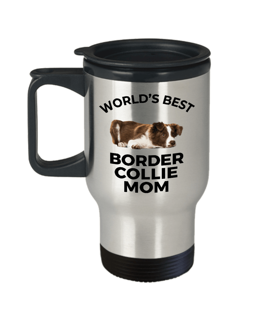 Border Collie Puppy Dog Mom Travel Coffee Mug