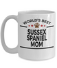 Sussex Spaniel Dog Lover Gift World's Best Mom Birthday Mother's Day White Ceramic Coffee Mug