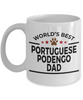 Portuguese Podengo Dog Lover Gift World's Best Dad Birthday Father's Day White Ceramic Coffee Mug