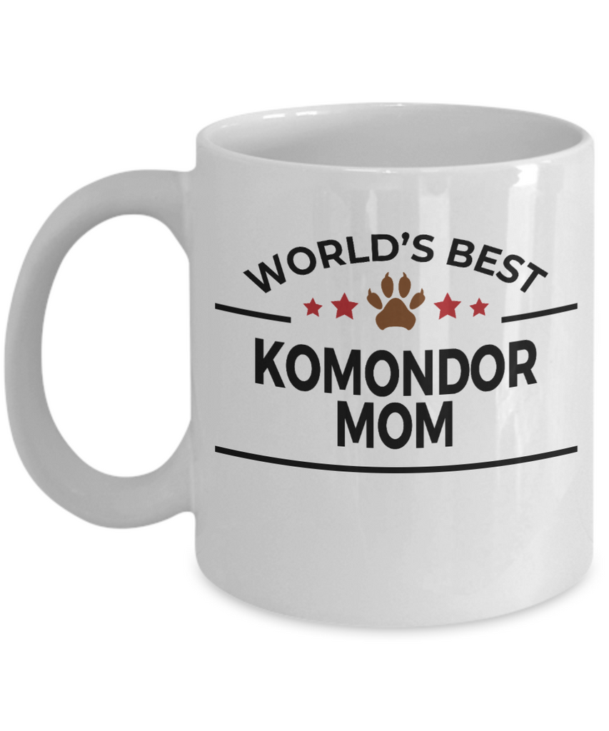 Komondor Dog Lover Gift World's Best Mom Birthday Mother's Day White Ceramic Coffee Mug