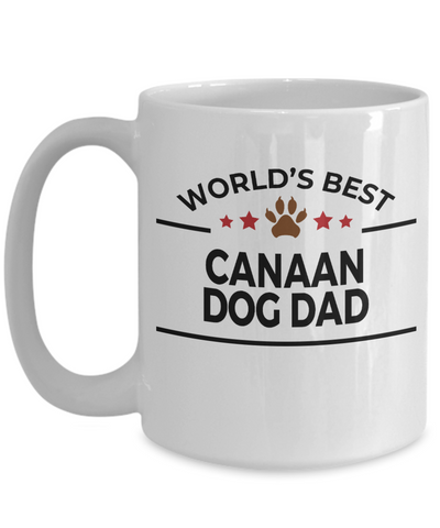 Canaan Dog Lover Gift World's Best Dad Birthday Father's Day White Ceramic Coffee Mug