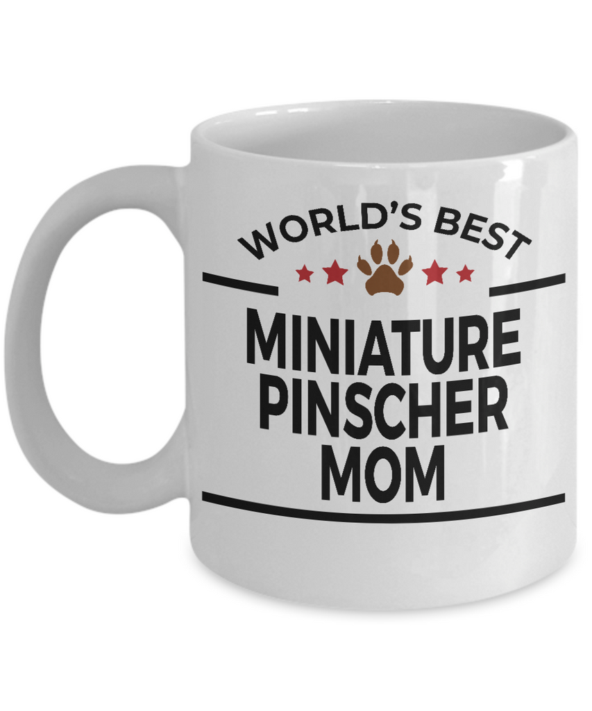 Miniature Pinscher Dog Lover Gift World's Best Mom Birthday Mother's Day White Ceramic Coffee Mug