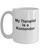 Komondor Dog Owner Lover Funny Gift Therapist White Ceramic Coffee Mug