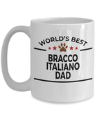 Bracco Italiano World's Best Dad Custom Ceramic Coffee Mug