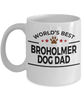 Broholmer Dog Lover Gift World's Best Dad Birthday Father's Day White Ceramic Coffee Mug