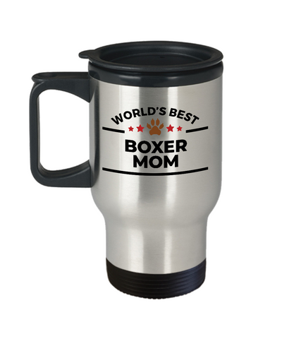 Boxer Dog Lover Gift World's Best Mom Birthday Mother's Day Stainless Steel Insulated Travel Coffee Mug