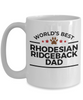 Rhodesian Ridgeback Dog Lover Gift World's Best Dad Birthday Father's Day White Ceramic Coffee Mug