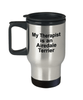 Airedale Terrier Dog Owner Lover Funny Gift Therapist Stainless Steel Insulated Travel Coffee Mug